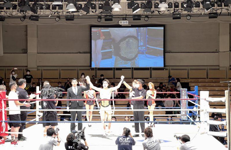 瓦田脩二選手が快挙!第6代Krushライト級チャンピオンに!
